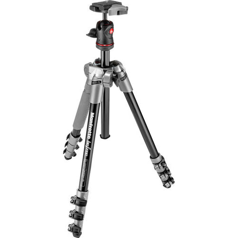 Manfrotto BeFree 4 Section Aluminum Tripod Kit – Grey (MKBFRA4D-BH)