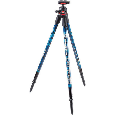 Manfrotto OFF-ROAD Aluminum Tripod Kit – Blue (MKOFFROADB)