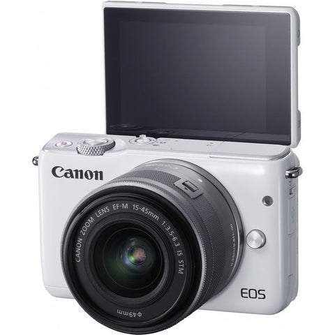 Canon EOS-M10 + EF-M 15-45mm f/3.5-6.3 IS STM Lens (White)