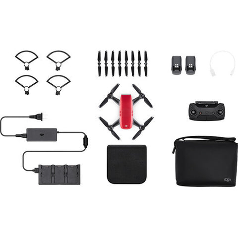 (SALE) DJI Spark Quadcopter Fly More Combo – Lava Red