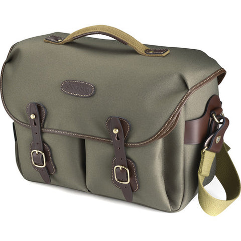Billingham Hadley One Shoulder Bag (Sage FiberNyte With Chocolate Leather Trim)