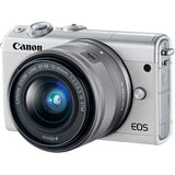 (MERDEKA SALE) Canon EOS-M100 + EF-M 15-45mm f/3.5-6.3 IS STM (White) [FREE 16GB Card & Camera Bag]