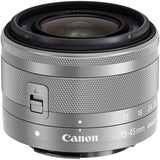 (SALE) Canon EOS-M100 + EF-M 15-45mm f/3.5-6.3 IS STM + EF-M 22mm f/2 STM (White)