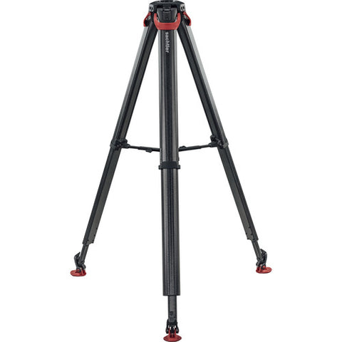 Sachtler Flowtech 75 MS Carbon Fiber Tripod W/ Mid-Level Spreader & Rubber Feet