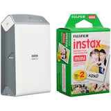 (Special Deal) Fujifilm Instax SHARE SP-2 Smartphone Printer (Silver) [FREE Instax Mini Color Plain Film (20 Shots) – Twin Pack]