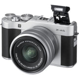 Fujifilm X-A5 (Silver) + XC 15-45mm f/3.5-5.6 OIS PZ (Free 2x 32GB SD Card + Camera Case + Fujifilm Neck Strap)