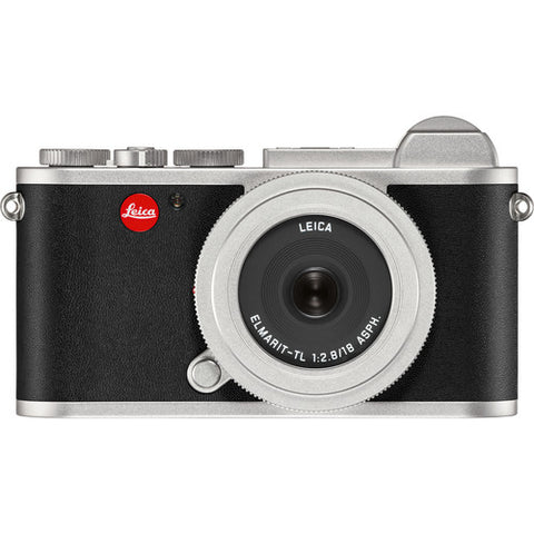Leica CL Mirrorless Digital Camera (Silver) 19313 + Leica Elmarit-TL 18mm f/2.8 ASPH