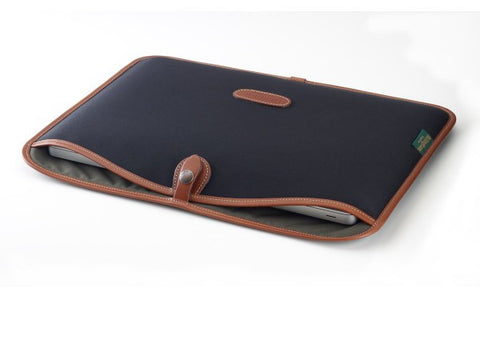 Billingham 15 inch Laptop Slip (Black with Tan)