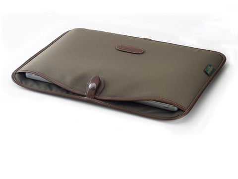 Billingham 15 inch Laptop Slip (Sage Fibrenyte with Chocolate)