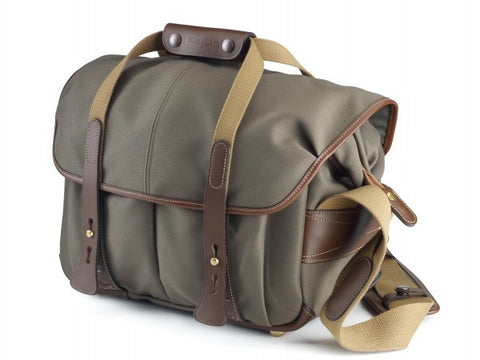 Billingham 307 Shoulder Bag (Sage With Chocolate Leather Trim)