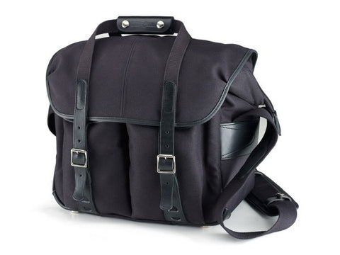 Billingham 307L Shoulder Bag (Black FibreNyte With Black Leather Trim)