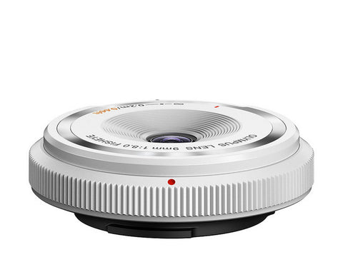 Olympus BCL-0908 9mm f/8.0 Fisheye Body Cap Lens (White)