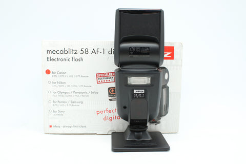 USED - METZ 58 AF-1 FOR CANON FLASH 90% Like New Condition,SN:395516 YL PUDU