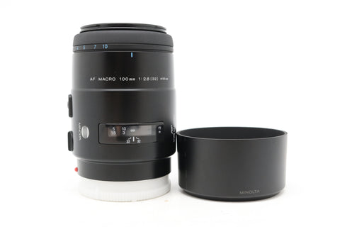 USED - MINOLTA 100MM F2.8 MACRO AF LENS 95% Like New Condition,SN:13501462 YL PUDU