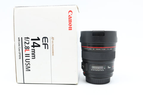 USED - CANON 14MM F2.8 EF USM L II 90% Like New,SN:1498120 YL PUDU