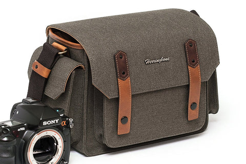 HERRINGBONE Papas Pocket V3 Medium Camera Bag (Brown)