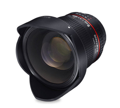 Samyang 8mm F3.5 UMC Fisheye CS II Hood Detachable (Canon EF-S)