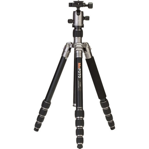 MeFOTO A1350Q1 RoadTrip Aluminum 5 Section Travel Tripod (Titanium)