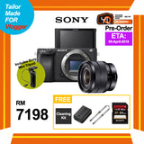 (Pre-Order) Sony A6400 (Black) + E 10-18mm f/4 OSS + GP-VPT1 Control Tripod (FREE Sony 64GB SD Card + NP-FW50 Battery + Peak Design Camera Strap + Camera Cleaning Kit)