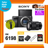 (Pre-Order) Sony A6400 (Black) + E 18-105mm f/4 OSS + GP-VPT1 Control Tripod (FREE Sony 64GB SD Card + NP-FW50 Battery + Peak Design Camera Strap + Camera Cleaning Kit)