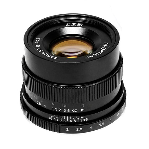 7artisans 35mm F2.0 (Black – For Micro Four Thirds)