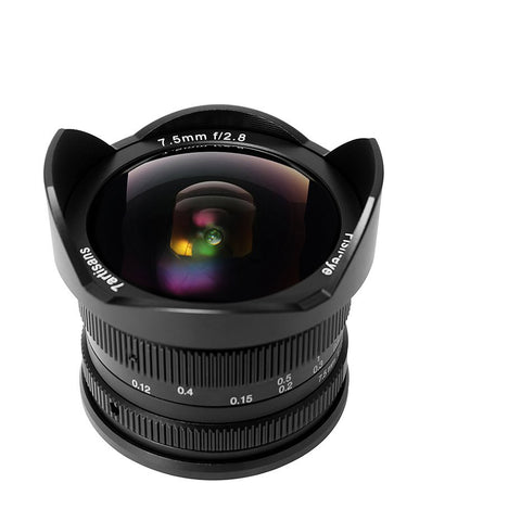 7artisans 7.5mm F2.8 FISHEYE (Black – For Fujifilm X-Mount)