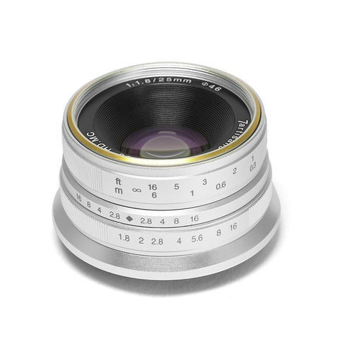 7artisans 25mm F1.8 (Silver – For Micro Four Thirds)