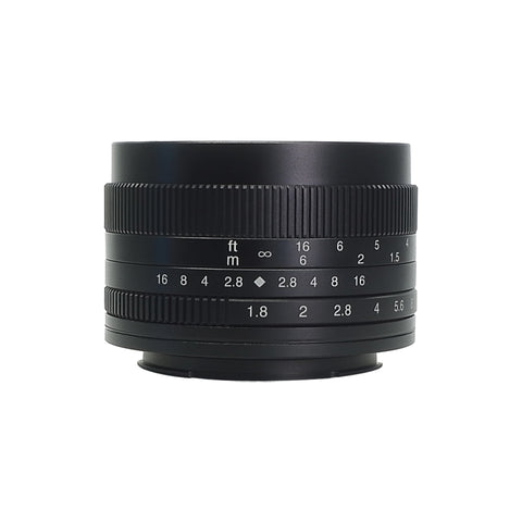 7artisans 50mm F1.8 (Black – For Canon M-Mount)
