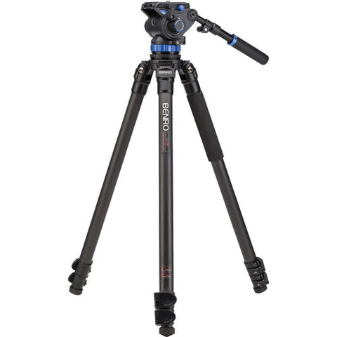Benro C373FBS7 Carbon Fiber 3 Section Video Tripod Kit