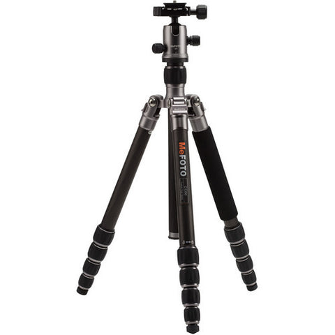 MeFOTO C1350Q1 RoadTrip Carbon Fiber 5 Section Travel Tripod (Titanium)