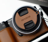 Gariz Capfix for Sony NEX 18-55mm/16mm Lens Cap (Light Brown)