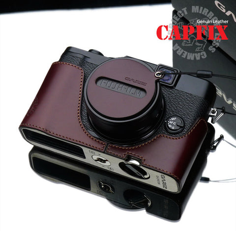 Gariz Capfix for Fujifilm X10/X20/X30 Lens Cap (Brown)