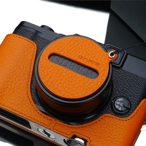 Gariz Capfix for Fujifilm X10/X20/X30 Lens Cap (Orange)