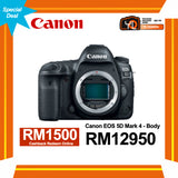 (Special Deal) Canon EOS 5D Mark IV (Body) [Online Redemption RM1500 Cashback]