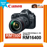 (Special Deal) Canon EOS 5D Mark IV + EF 24-105mm f/4 L IS II USM Lens [Online Redemption RM1500 Cashback]