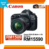 (Special Deal) Canon EOS 5D Mark IV + EF 24-70mm f/4 L IS USM Lens [Online Redemption RM1500 Cashback]