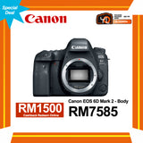 (Special Deal) Canon EOS 6D Mark II (Body) [Online Redemption RM1500 Cashback]