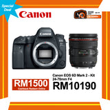 (Special Deal) Canon EOS 6D Mark II + EF 24-70mm f/4 L IS USM Lens [Online Redemption RM1500 Cashback]