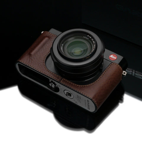 Gariz Leica D-Lux Typ 109 Leather Camera Half Case (Brown with Grip)