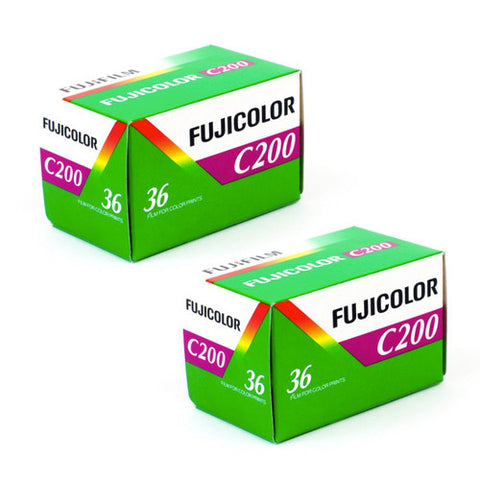 Fujifilm Fujicolor C200 Color Negative Film (35mm Roll Film) - 2 Packs Film