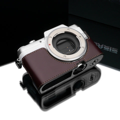 Gariz Panasonic DMC-GF7 Leather Camera Half Case (Brown)