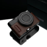 Gariz Sony DSC-RX100 III Leather Camera Half Case (Brown with Grip)