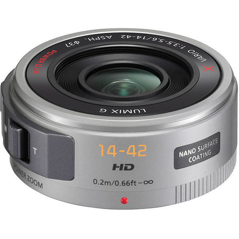 (SALE) Panasonic Lumix G X Vario PZ 14-42mm f/3.5-5.6 ASPH. Power O.I.S (Silver)