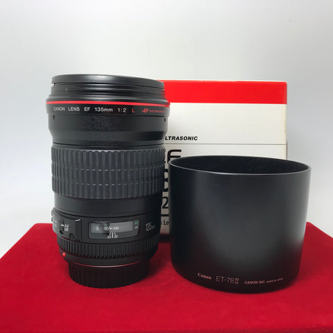 USED-Canon EF 135MM F2 L USM,95% Like New Condition With BOX,S/N:216667,YL PJ.