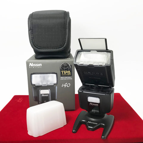 USED-Nissn DI40 Flash For (SONY),95% Like New Condition With Box,S/N:73111604060,YL PJ.