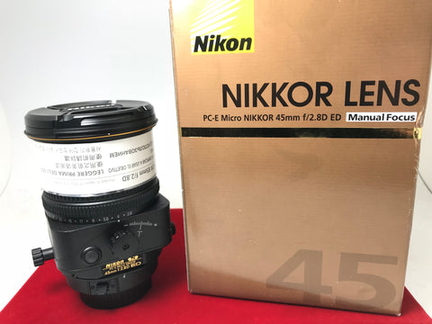 USED- Nikon PC-E 45mm F2.8D ED Nano Lens,95% Like New Condition With Box,S/N:205749,YL PJ
