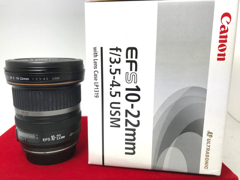 USED- Canon EF-S 10-22mm F3.5-4.5 USM Lens,95% Like New Condition With Box,S/N:97101765,YL PJ