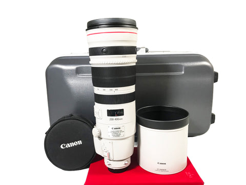 USED-Canon EF 200-400MM F4 L IS USM Extender 1.4X Lens,95% Like New Condition With Trunk Case,S/N:0400000125,YL PJ.