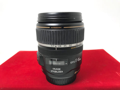 USED- Canon EF-S 17-85mm F4-5.6 IS USM Lens,85% Like New Condition,S/N:34126886,YL PJ