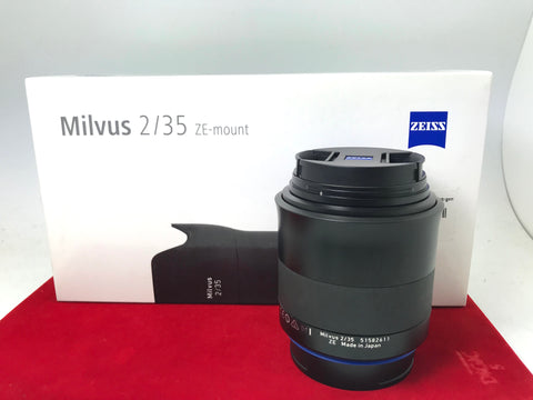 USED- Zeiss Distagon 35mm F2 Milvus Lens For (Canon Mount),95% Like New Condition With Box,S/N:51582611,YL PJ
